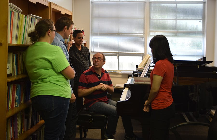 Campbellsville University School of Music (EUA) piano students